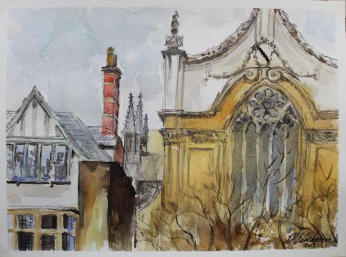 Spires and chimney pots